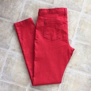 Second Yoga Jeans - High Rise Skinny Jeans - Red